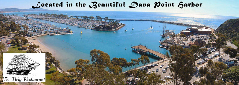 Photo of Dana Point Harbor the location of The Brig Restaurant - Click to Enter this site