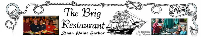 Photos from The Brig Restaurant shown at the top of the web page